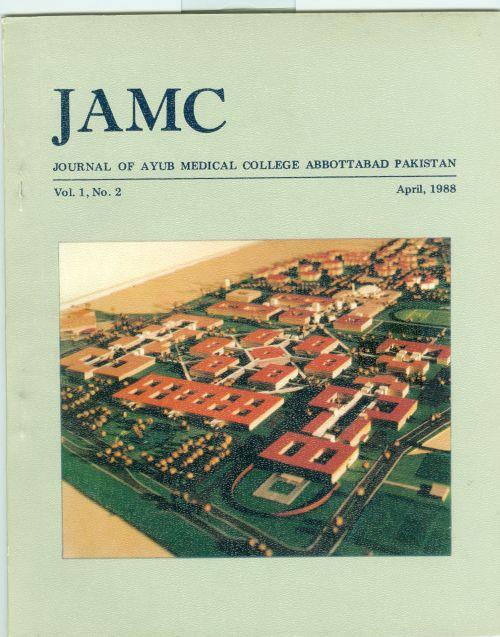 View Vol. 1 No. 2 (1988): JOURNAL OF AYUB MEDICAL COLLEGE, ABBOTTABA